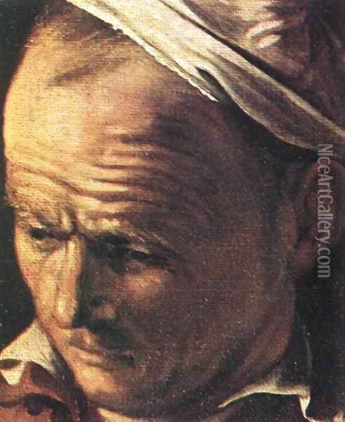 Supper at Emmaus (detail 1) 1606 Oil Painting - Caravaggio