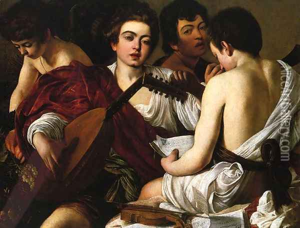 The Concert Oil Painting - Caravaggio