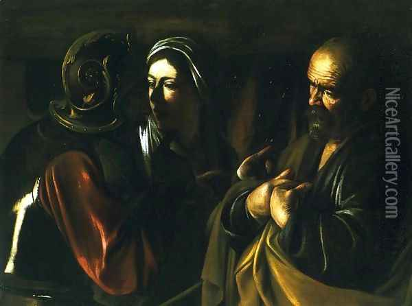 The Denial of St. Peter Oil Painting - Caravaggio