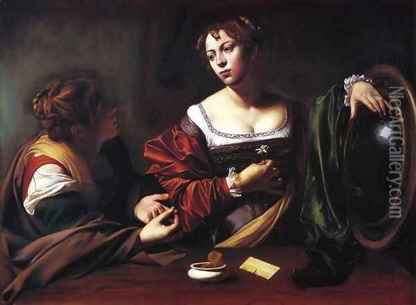 The Conversion of the Magdalen, 1597-98 Oil Painting - Caravaggio