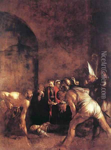 Burial of St Lucy Oil Painting - Caravaggio