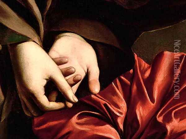 The Conversion of the Magdalen, 1597-98 (detail) Oil Painting - Caravaggio