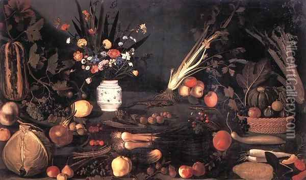 Still Life with Flowers and Fruit Oil Painting - Caravaggio