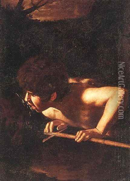 St. John the Baptist at the Well Oil Painting - Caravaggio