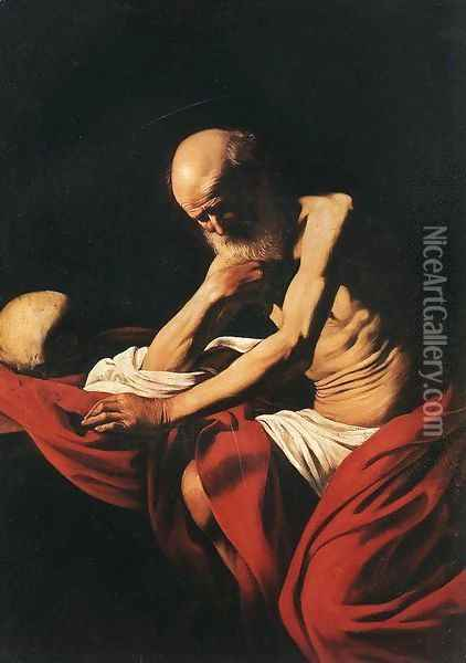 St. Jerome Oil Painting - Caravaggio