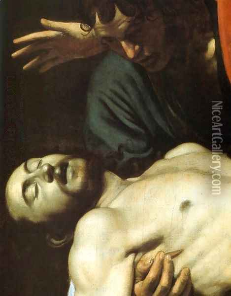 The Entombment (detail) Oil Painting - Caravaggio