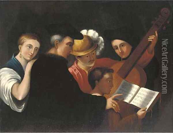 The music lesson Oil Painting - Caravaggio