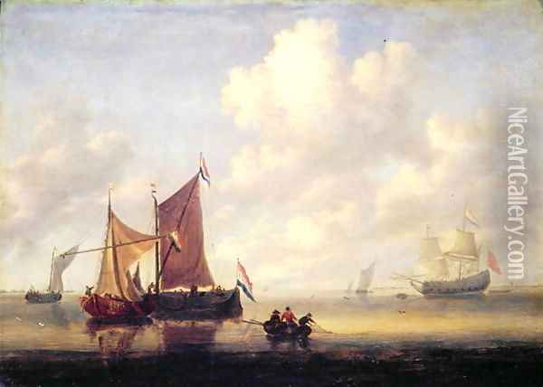 Seascape Oil Painting - Jan Van De Capelle