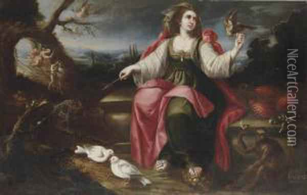 An Allegory Of Touch Oil Painting - Juan De Arellano