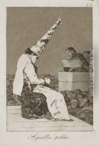 Untitled Oil Painting - Francisco De Goya y Lucientes