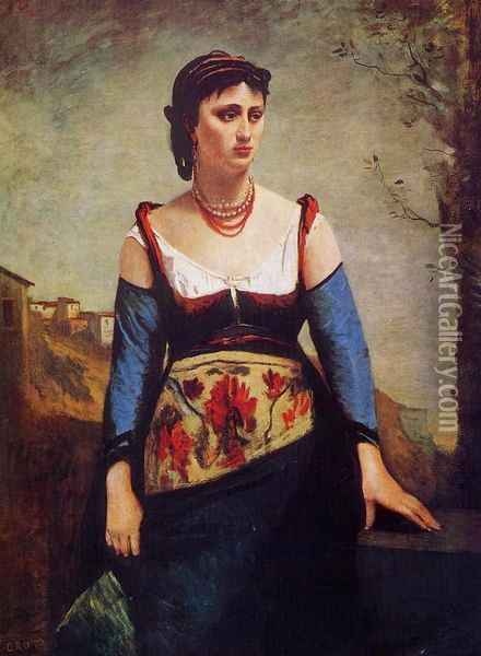 Agostina Oil Painting - Jean-Baptiste-Camille Corot