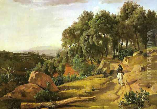 A View near Volterra Oil Painting - Jean-Baptiste-Camille Corot