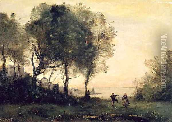 Souvenir of Italy Oil Painting - Jean-Baptiste-Camille Corot