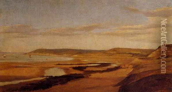 By the Sea Oil Painting - Jean-Baptiste-Camille Corot