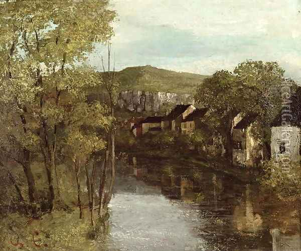 The Reflection of Ornans, c.1872 Oil Painting - Jean-Baptiste-Camille Corot