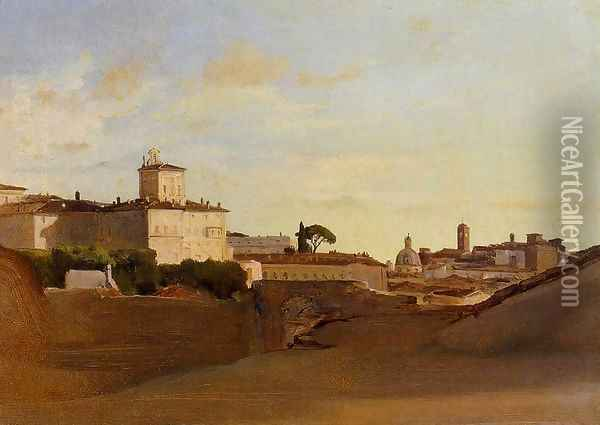 View of Pincio, Italy Oil Painting - Jean-Baptiste-Camille Corot