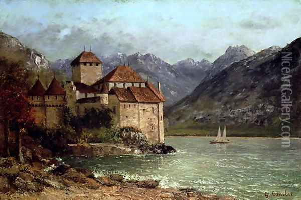 The Chateau de Chillon, 1875 Oil Painting - Jean-Baptiste-Camille Corot