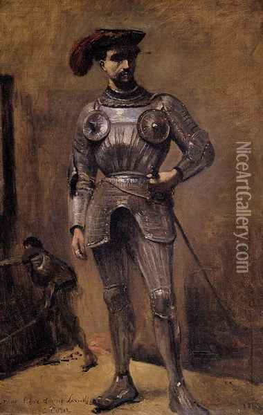 The Knight Oil Painting - Jean-Baptiste-Camille Corot