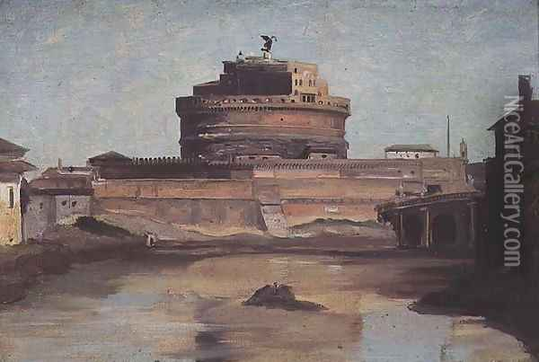 The Castle of St. Angelo, Rome Oil Painting - Jean-Baptiste-Camille Corot