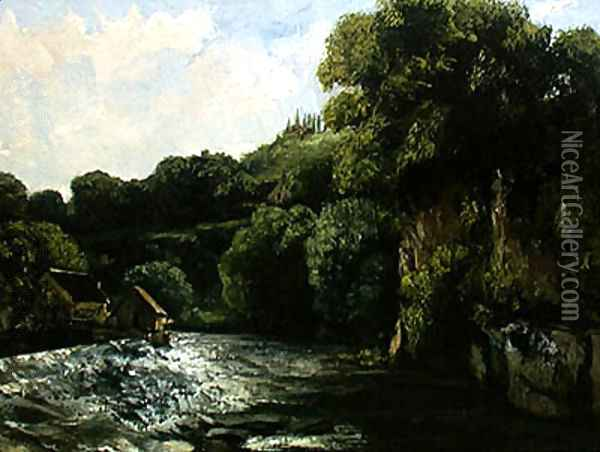 The Lock on the Loue, 1867 Oil Painting - Jean-Baptiste-Camille Corot