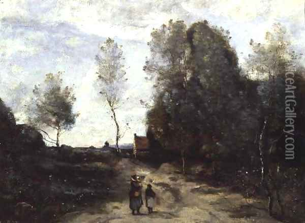 The Road Oil Painting - Jean-Baptiste-Camille Corot