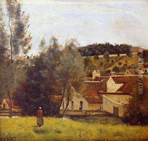 The Evaux Mill at Chiery, near Chateau Thierry Oil Painting - Jean-Baptiste-Camille Corot