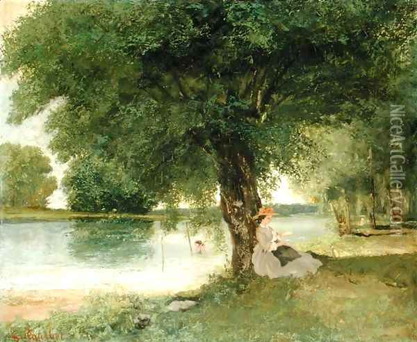 The Charente at Port-Bertaud, 1862 Oil Painting - Jean-Baptiste-Camille Corot