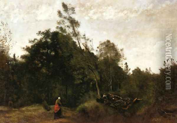 Forest Clearing in the Limousin I Oil Painting - Jean-Baptiste-Camille Corot