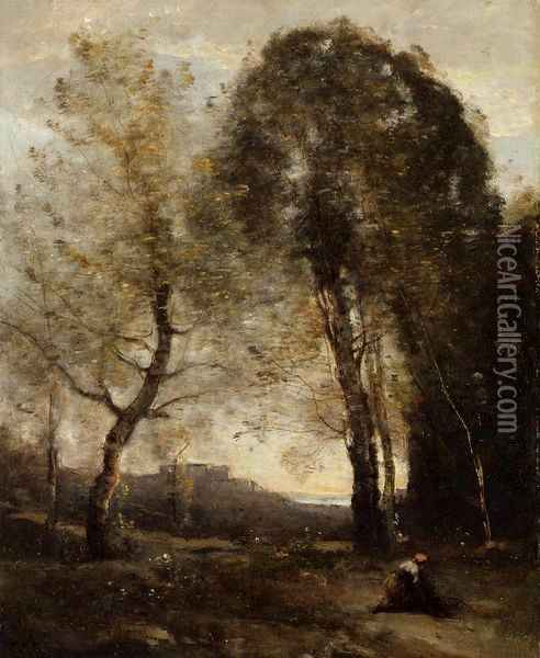 Souvenir of Italy II Oil Painting - Jean-Baptiste-Camille Corot