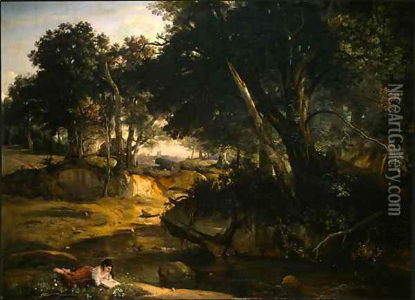 Forest of Fontainebleau 2 Oil Painting - Jean-Baptiste-Camille Corot
