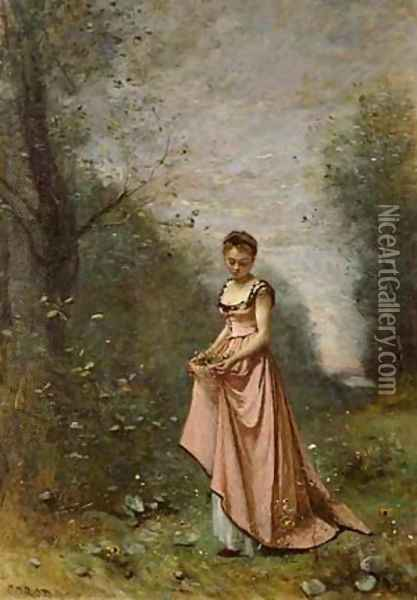 Springtime of Life Oil Painting - Jean-Baptiste-Camille Corot