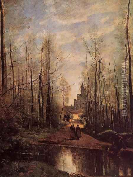 The Church of Marissel Oil Painting - Jean-Baptiste-Camille Corot