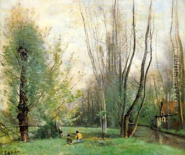 Morning at Beauvais Oil Painting - Jean-Baptiste-Camille Corot