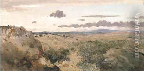 Paysage montagneux Oil Painting - Jean-Baptiste-Camille Corot