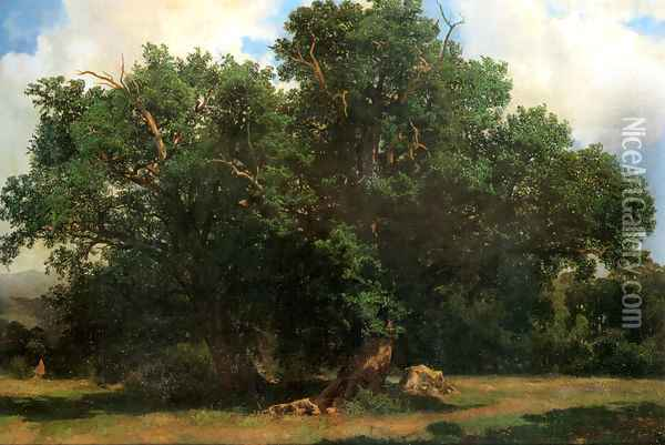 Oak Trees Oil Painting - Alexandre Calame