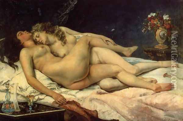 Le Sommeil, 1866 Oil Painting - Gustave Courbet