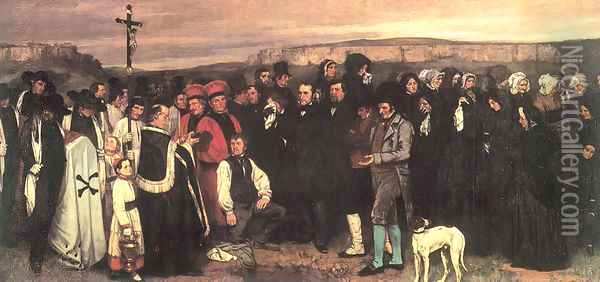 Burial at Ornans, 1849-50 Oil Painting - Gustave Courbet