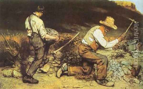 Stonebreakers Oil Painting - Gustave Courbet