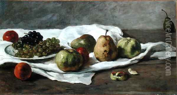Apples, pears and grapes Oil Painting - Gustave Courbet