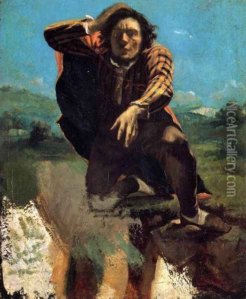 The Desperate Man Oil Painting - Gustave Courbet