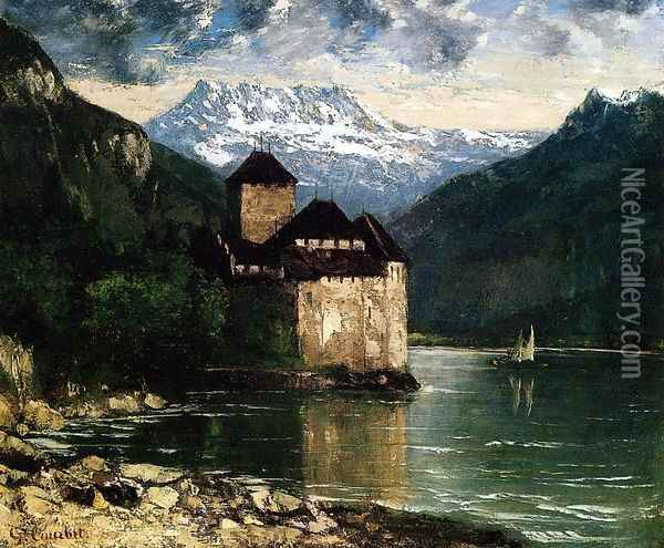 Chateau du Chillon I Oil Painting - Gustave Courbet