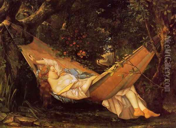 The Hammock Oil Painting - Gustave Courbet