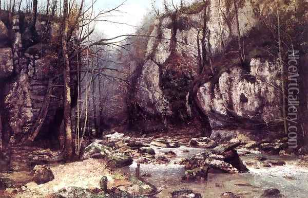 The Stream of the Puits-Noir at Ornans Oil Painting - Gustave Courbet