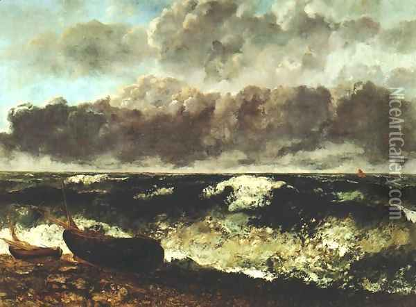 Wave Oil Painting - Gustave Courbet