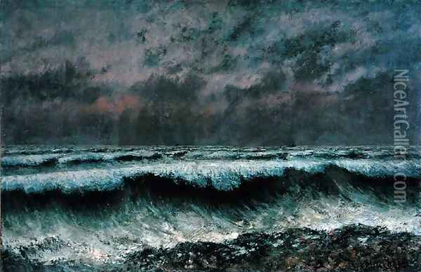 The Wave, 1870 Oil Painting - Gustave Courbet