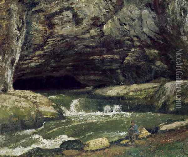 The Source of the Loue or La Grotte Sarrazine Oil Painting - Gustave Courbet