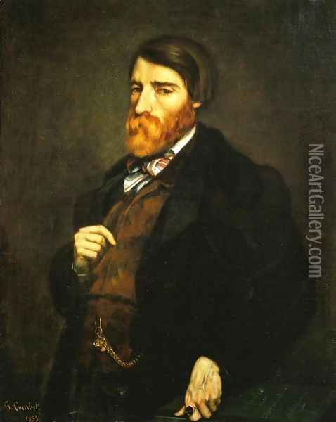 Portrait of Alfred Bruyas I Oil Painting - Gustave Courbet