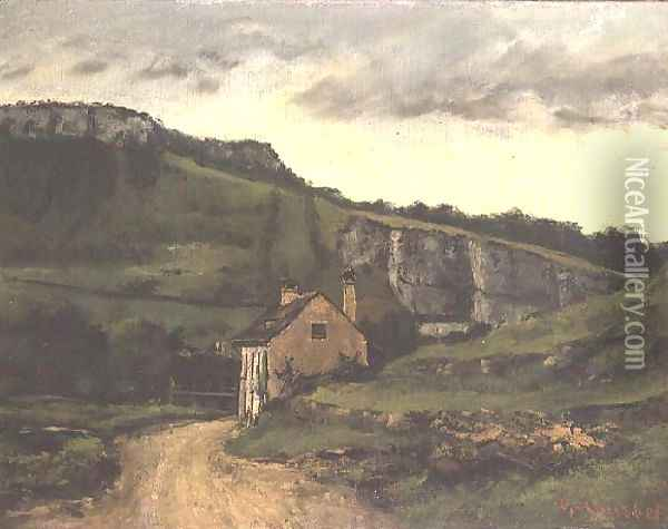 A Country Cottage Oil Painting - Gustave Courbet