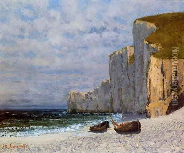 A Bay with Cliffs Oil Painting - Gustave Courbet