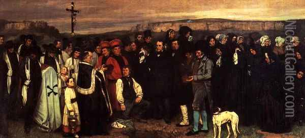 A Burial at Ornhans Oil Painting - Gustave Courbet